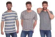 Hommes Cargo Bay Rayure imprimé T-Shirt à col rond - 3 Colours