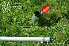 Schraub-Erdanker für Aluminium-Teleskopmast mit Drehstab und Reduziereinsätzen