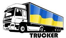 INTERNATIONAL Camionista Camionista & Ucraina Paese Bandiera Auto Camion Adesivo