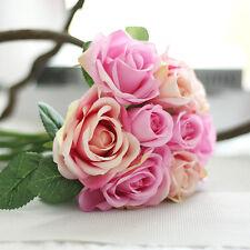 Artificial Rose Peony Silk Flowers Leaf Bouquet Home Floral Wedding Garden Decor