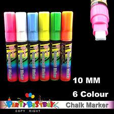 6x 10mm Liquid Chalk Marker For LED Writing Board Glass Window Fluorescent Pen