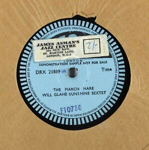 Will Glahe Sunshine Sextet - The March Hare - PROMO DEMO 78rpm DRX 21889