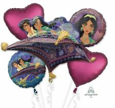 Disney Aladdin Balloon Bouquet ~ Girls Birthday Party Decoration Jasmine ~ 5pc
