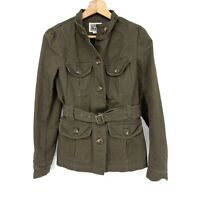 Size Small Converse One Star Women's Olive Green Cargo Utility Jacket C130