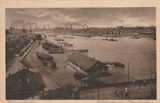 AK Ludwigshafen, Blick von der Rheinbrücke 1924