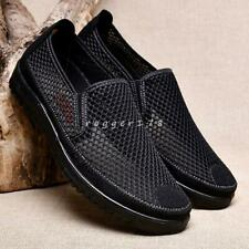 mens breathable casual slip on comfort mesh loafers moccasin driving shoes