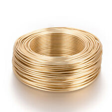 2mm 14K GOLD PLATED Aluminium Craft Florist Wire Jewellery Making 3m lengths
