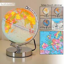 Globus Lampe Tischglobus Leuchtglobus Erdkugel Ø 20 cm Touch Dimmer Tischleuchte