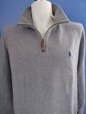 NWT POLO RALPH LAUREN MEN'S, ½-ZIP SWEATER, FRENCH RIB, COTTON, ASSORTED COLORS