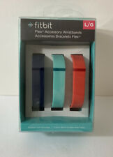 Fitbit Flex Accessory Wristbands 3 Bands Size Large Navy, Teal, Tangerine New