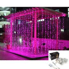 300 2400 LED Fairy curtains String light fr Xmas Wedding party Connectable 110v