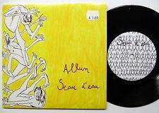 """ALLUM / SEAU D'EAU Split 7"""" 45 GALERIE PACHE 090104 French INDIE Rock #A647"""
