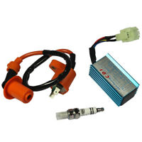 SCOOTER PERFORMANCE RACING IGNITION COIL + SPARK PLUG + CDI GY6 50CC 125CC 150CC