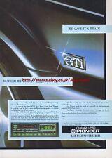 Pioneer KEH 908B Car Audio 1987 Magazine Advert #2632