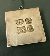 More details for  vintage silver ingot fob/pendant weight 33.6g stamped quality size 36mm x 3mm