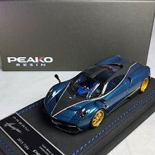 1/43 Peako Pagani Huayra 730S 2015 Blue Carbon Ltd 50 pcs 30305