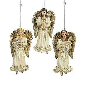 Set of 3 Platinum Angel Ornaments w