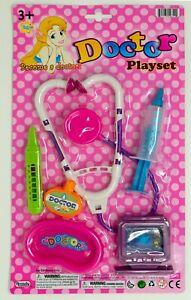 Become a doctor toy set, stethoscope, cardiac monitor, syringe, Eyedew box