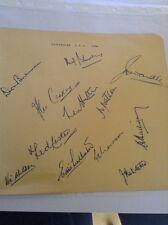 Yorkshire CCC 1950 Twelve Autographs v Lancashire Incl. Len Hutton