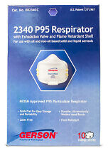 Gerson 2340 P95 Respirator Masks with Exhalation Valve and Flame Retardant Shell