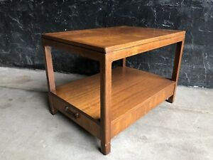 FOUNDERS Jack Cartwright Solid Walnut End Side Table Nightstand Drawer MCM