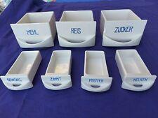 alte Gewürzschubladen Porzellan, 3 große, 4 kleine,  Vorratsgefäße, Vorratsschub