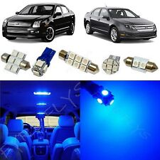 10x Blue LED lights interior package kit for 2006-2012 Ford Fusion FF2B