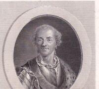 Portrait XVIIIe De Saxe Moritz Von Sachsen Maurits Van Saksen Succession Pologne
