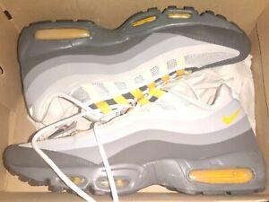 Nike Air Max 95 No Sew Cool Grey Yellow White Mens Size 12 Rare 511306-071