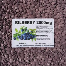 "BILBERRY 2000mg   60 tablets ""Eye Health"" ~(L)"