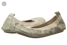 Yosi Samra Girls Party Shoes Leather Gold Glitter Ballet Flats 13 BNIB Gift