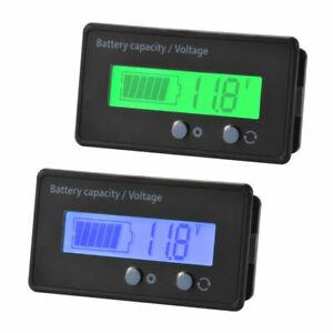 Car LCD 12V/24V/36V/48V Lead-Acid Battery Status Voltage Voltmeter Monitor Meter