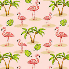 Blank Quilting PINK LADY Tropical Flamingo Palm Tree Fabric by Karen Embry- Pink