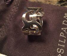 SILPADA R1200 .925 Sterling Silver Scroll Cuff Ring SIZE 6 Rare Vintage