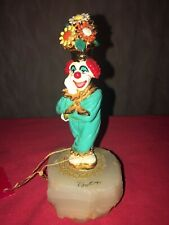 1991 Vintage Ron Lee Clown Sculpture Potsie Flower Pot Hat Ccg4 24Kt Gold Circus