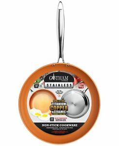 Gotham Steel Stainless Steel 11″ Fry Pan