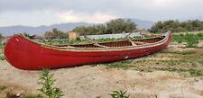 L@K! Rare Vintage Old Town 16' Wooden River Lake Canoe Sail Ship Row Boat Kayak