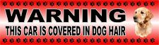 "GOLDEN RETRIEVER ""WARNING CAR COVERED IN DOG HAIR"" Car Sticker By Starprint"