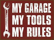 My Garage My Rules ,Retro metal Aluminium Sign Vintage Garage shed  Sexy ManCave