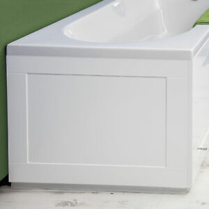 Croydex White Gloss MDF Unfold N Fit Bath End Panel - 660mm