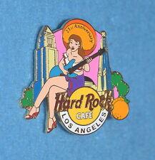 HARD ROCK CAFE 2003 Los Angeles 21st Anniversary Senorita w Guitar Pin # 20012