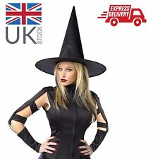 Women Fancy dress: Black Wicked Witch Hat Costume Accessory