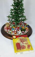 Westrim Beaded Miniature Christmas Tree * Red Toy Set Wagon Sled Tricycle #4490