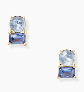 NWT Kate Spade Bright Ideas Double Studs Earrings Gold Tone $49