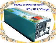 "8000W LF Pure Sine Wave 12V DC/110V AC 60Hz Power Inverter 3.5""LCD/UPS/Charger"