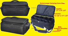 SUPER LARGE SIZE PRO CARRYING CASE BAG fits DIGITAL CAMERA CAMCORDER HANDYCAM