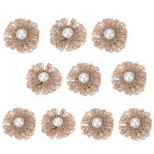 10pcs Handmade Vintage Rustic Burlap Hessian Jute Flowers Wedding Party Decor