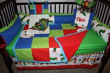5 piece Hungry caterpillar  crib bedding