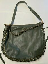 MARC JACOBS Green Leather Crossbody Nomad Hobo Bag NEW NWT Sz 16X14