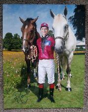 2x BREEDERS CUP CHAMP ROSIE NAPRAVNIK SIGNED PORTRAIT *HUGE* 11x14 PHOTO JOCKEY
